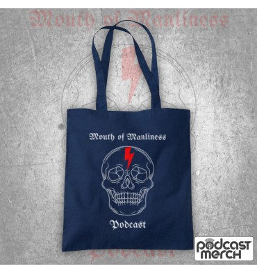 Mouth Of Manliness Skull Logo Tote Bag