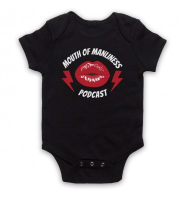 Mouth Of Manliness Lips Logo Baby Grow Bib