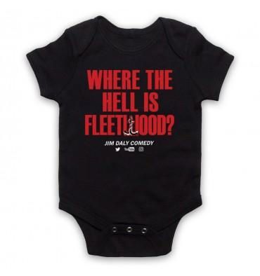 Where The Hell Is Fleetwood? Baby Grow Bib