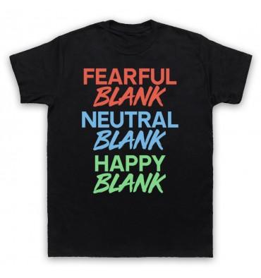 BLANK Fearful Blank Neutral Blank Happy Blank Multicolour T-Shirt