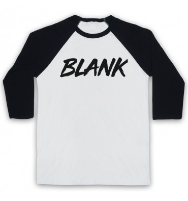 BLANK Logo Monochrome Baseball Tee