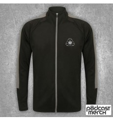 PES United Black & Grey Embroidered Tracksuit Top