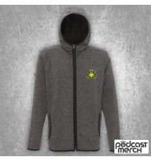 PES United Charcoal & Black Embroidered Zip Hoodie