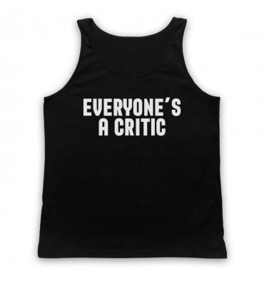 Everyone's A Critic Text Logo Tank Top Vest
