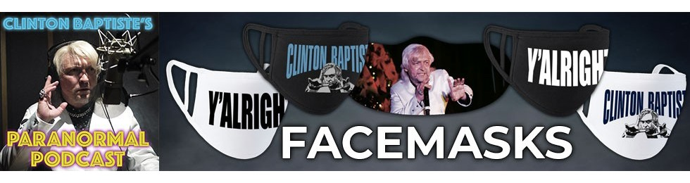 Clinton Baptiste's Paranormal Podcast Facemasks